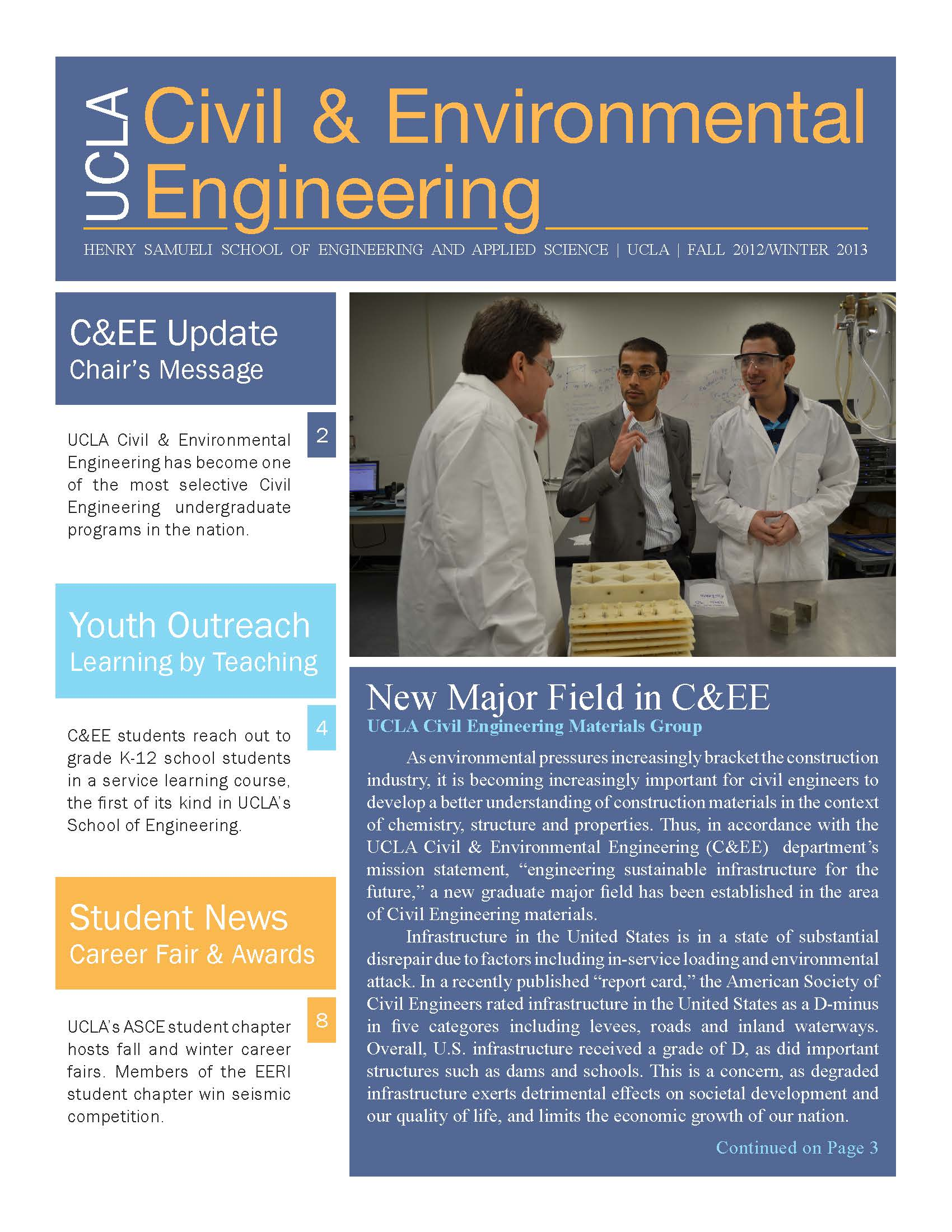 department newsletters cee
