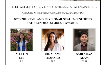 2020-2021 Outstanding Student Awards | CEE