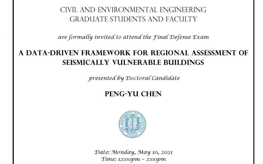 Peng-Yu Chen defense exam flyer