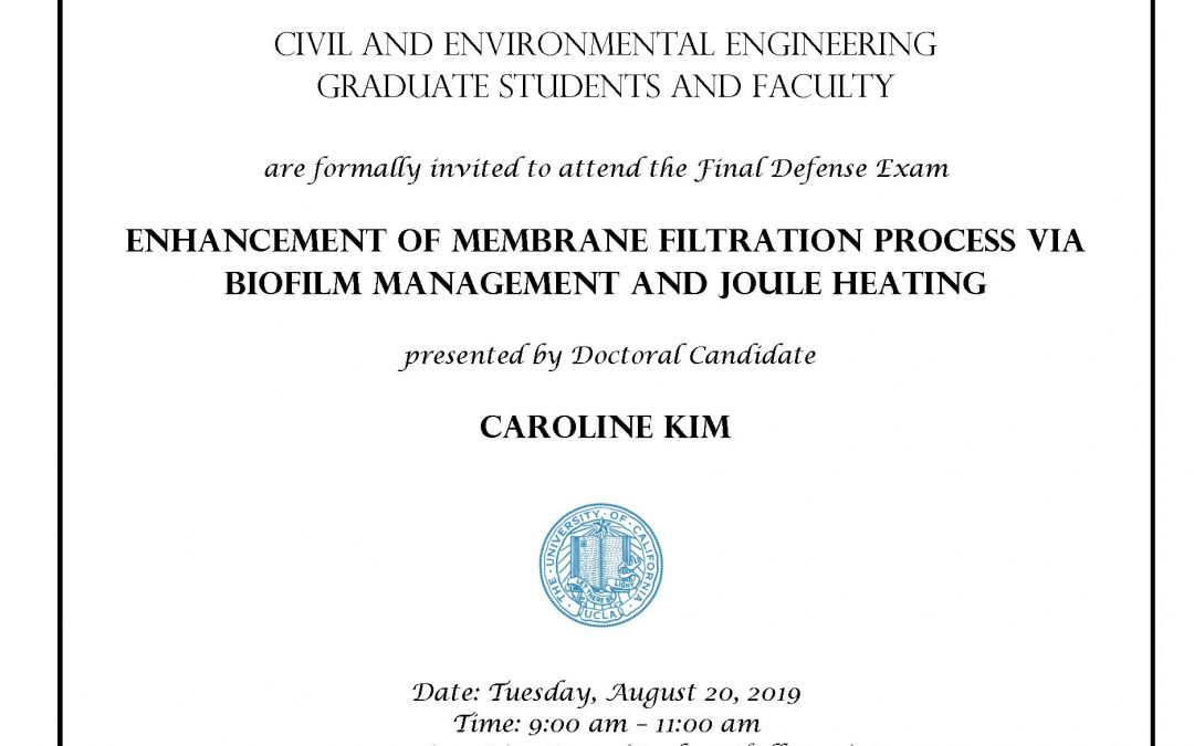 Defense Exam – Caroline Kim