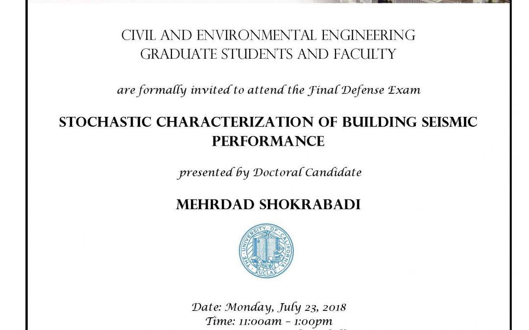 Final Defense Exam – Mehrdad Shokrabadi