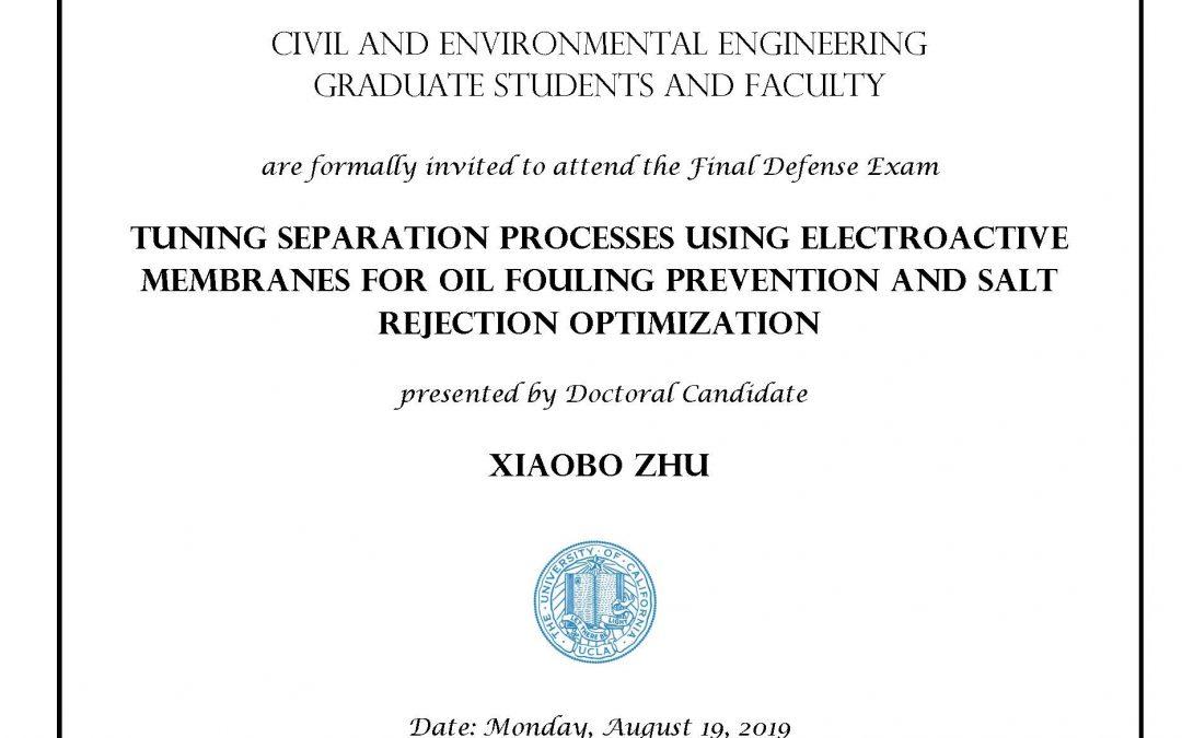 Defense Exam – Xiaobo Zhu
