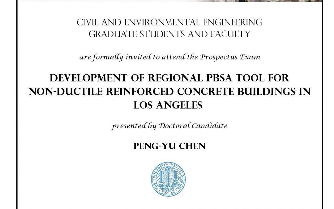 Prospectus Exam: Peng-Yu Chen