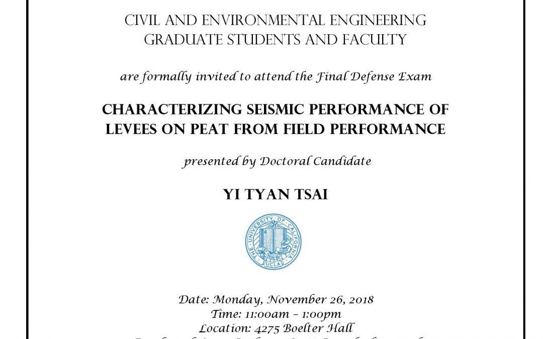 Defense Exam – Yi Tyan Tsai