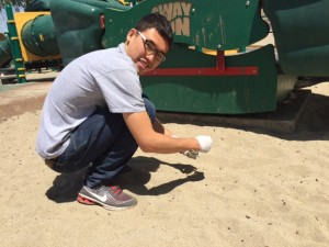 Wei-Cheng Wayne Hung, M.S. Candidate. Wayne is doing his thesis research on lead in soils and sand at playgrounds and baseball diamonds in Greater Los Angeles.