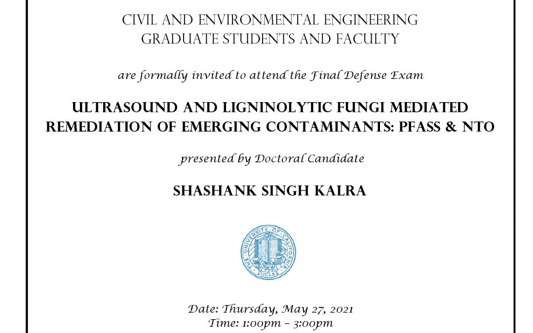 Shashank Singh Kalra Exam Flyer
