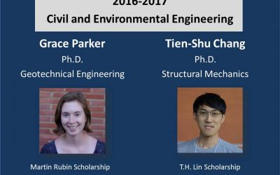 Congratulations to the 2016-17 C&EE Graduate Scholarship Recipients