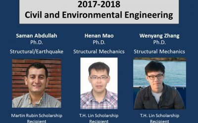 2017-2018 Martin Rubin Scholarship and T.H. Lin Scholarship Recipients Announced