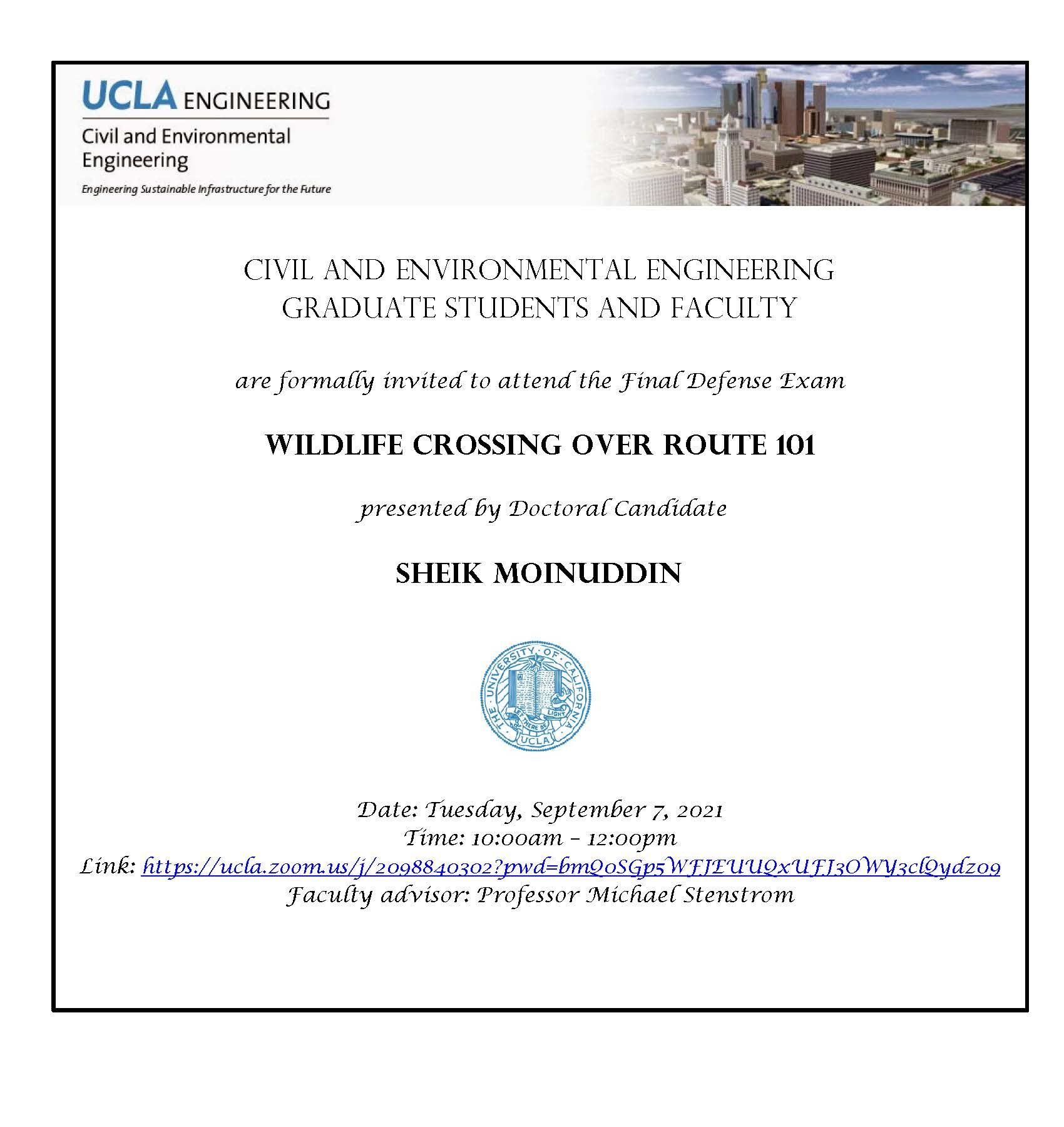 Defense Exam: Sheik Moinuddin
