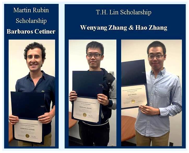 Congratulations to the 2015-16 C&EE Graduate Scholarship Recipients
