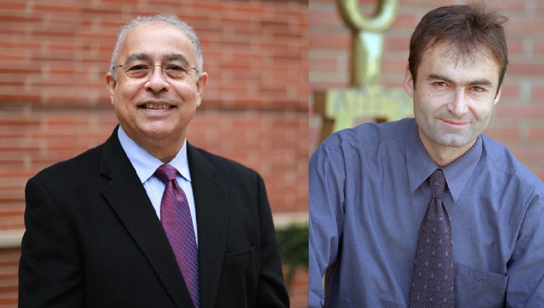 Left: UCLA Prof. Yousef Bozorgnia, Right: UCLA Prof. Ertugrul Taciroglu