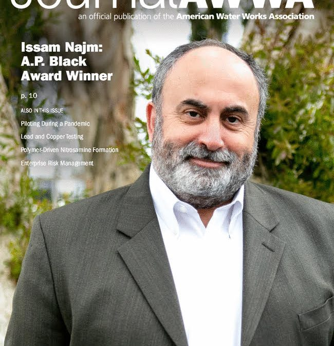 Issam Najm on cover of Journal AWWA