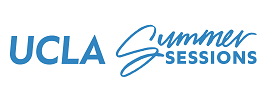 """""""UCLA Summer Sessions"""" in blue text, on white background"""