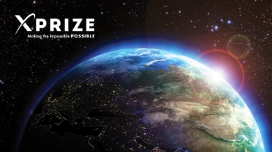 XPrize cover with half of Earth against space background